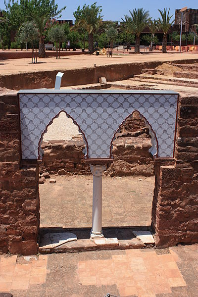 Moorish windows of the Palace of Balconies