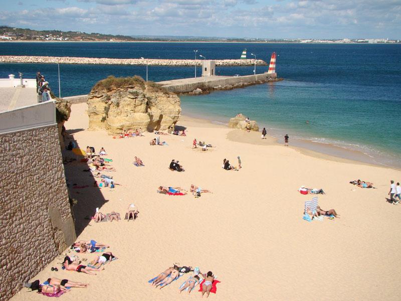 Waterfront in Lagos, Algarve