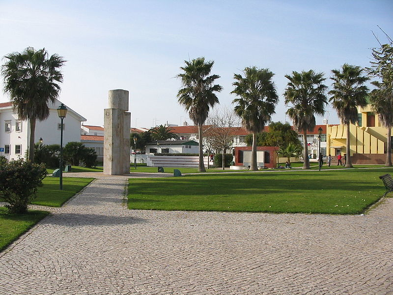 The main square of Vila do Bispo, Algarve
