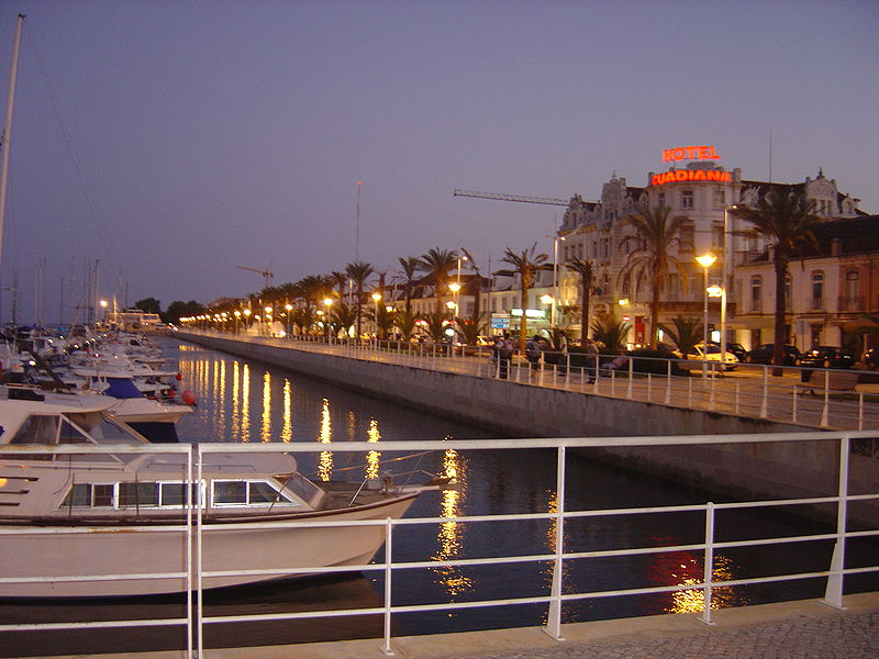 Vila Real de Santo António at night